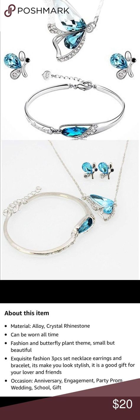 3pcs silver jewelry set. 3pcs silver jewelry set. Necklace, earrings, and bracel...   - My Posh Picks - #3pcs #bracel #earrings #Jewelry #Necklace #Picks #Posh #Set #silver
