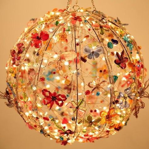 34 New Ideas for diy lamp chandelier lampshades Hanging Lights, Fairy Lights, String Lights, Ceiling Lights, Ceiling Hanging, Ceiling Ideas, Hanging Lamps, Ceiling Decor, Room Lights