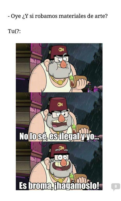 Pin De Alejandra Rodriguez En Memes Gravity Falls Un Verano De