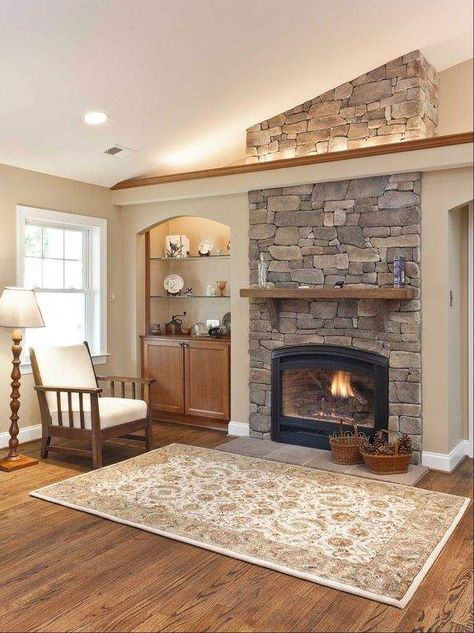 similar look to living room wall - ideas for built-in Fireplaces