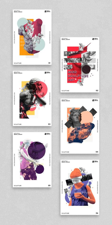Sculpture Poster Design Series - Zeka Design
