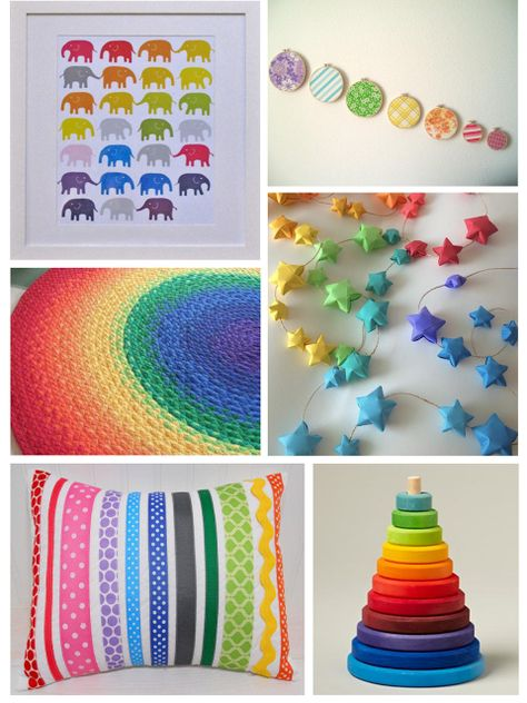 Baby: Rainbow Nursery Decor...nice gender neutral theme if it's a boy