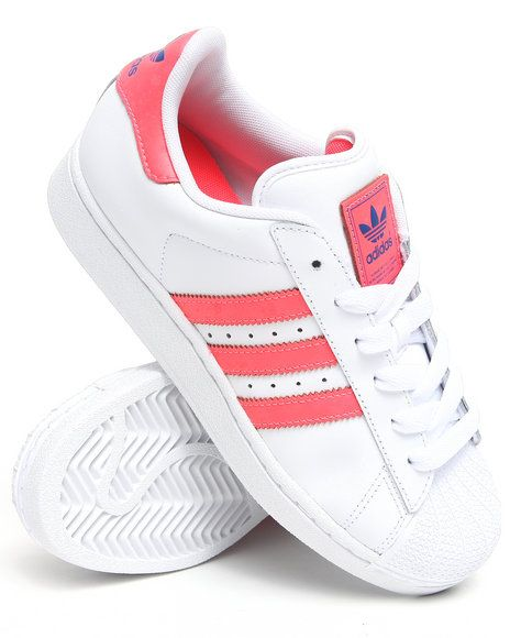 Adidas Women Coral,White Superstar 2 W Sneakers