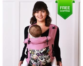 Malishastik Black Twin Baby Carrier for Twins