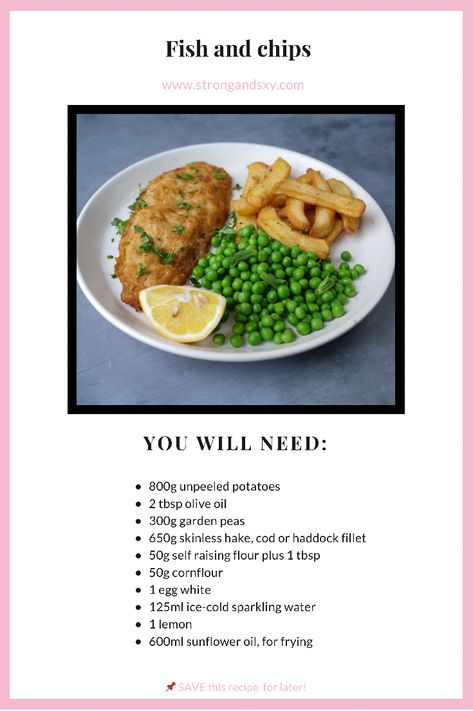 Fish and chips 🍽 We think this one will be a hit for the whole family! What kid doesn't love french fries? 😋 Make sure to SAVE ☑️ this recipe for later! #fishandchips #healthyrecipe