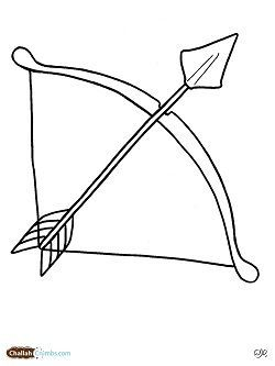 Image Result For Bow And Arrow Coloring Page Use As An