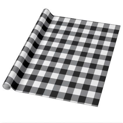 Black And White Gingham Wrapping Paper Zazzle Com Plaid Gift Wrapping Plaid Gift Buffalo Check Plaid
