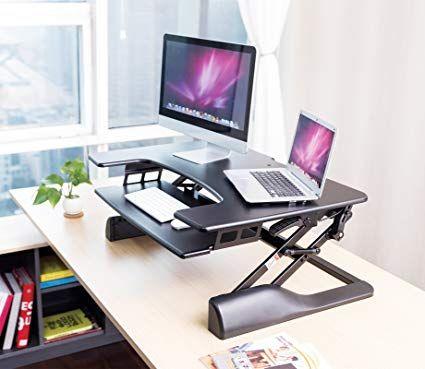 1home Siege Ergonomique Ajustable En Hauteur Moniteur De Bureau Support De Travail Pour Ord Standing Desk Converter Corner Standing Desk Adjustable Height Desk