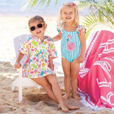 Flamingo Tassel Swimsuit PREORDER | Toddler swimsuits