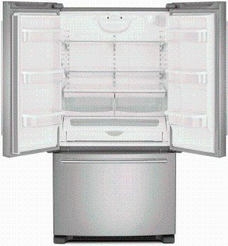 Whirlpool 36 Inch French Door Refrigerator 25 2 Cu Ft Fingerprint Resistant Stainless Steel In 2020 French Door Refrigerator Refrigerator Dimensions French Doors