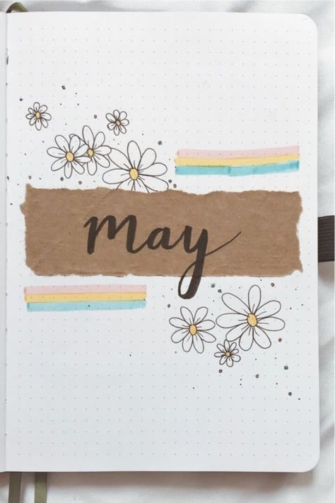 If you want to add a super cute floral theme to your bullet journal spreads this month, check out these daisy monthly covers, habit trackers, weekly spreads and more for new ideas / inspiration! Bullet Journal Journaling, Bullet Journal Titles, Bullet Journal Lettering Ideas, Bullet Journal Cover Ideas, Bullet Journal Monthly Spread, Bullet Journal Notebook, Bullet Journal Aesthetic, Bullet Journal School, Bullet Journal Inspiration