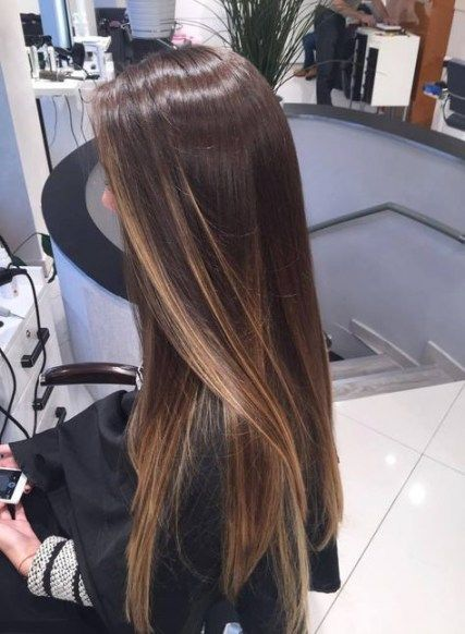 Trendy Hair Brown Straight Highlights 29 Ideas Hair Styles Hair Highlights Brown Hair Balayage