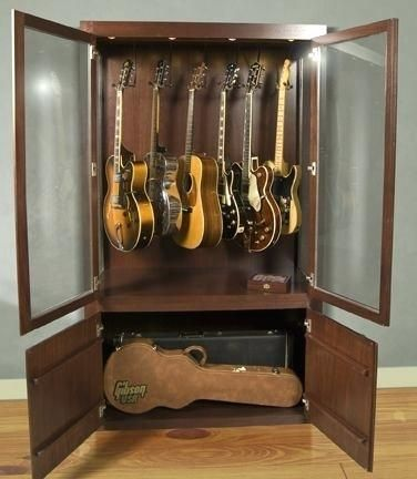 Guitar Storage Cabinet, Guitar Storage Cabinet
