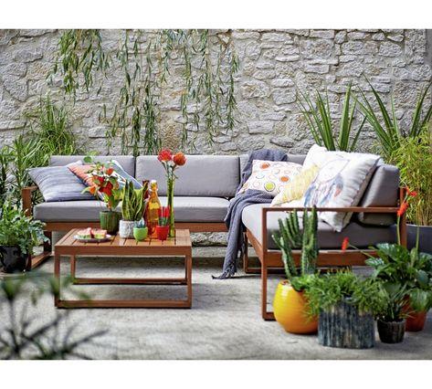 Buy Collection 5 Seater Aluminium Corner Sofa Set Garden Table