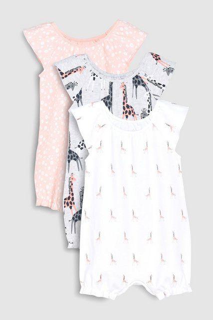 Baby Mädchen Body 100/% Baumwolle Winter Strampler Langarm Pony Einteiler Rosa
