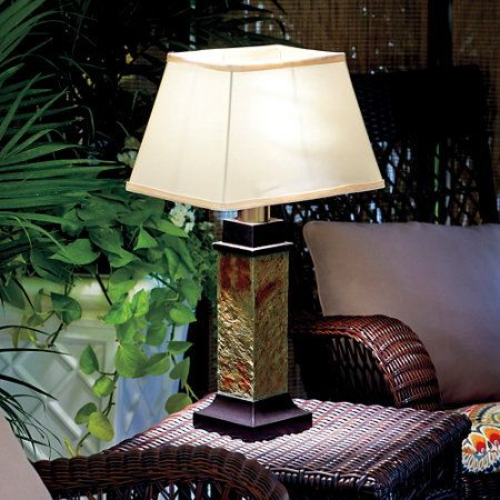 Slate Outdoor Battery Operated Table Lamp Outdoor Table Lamps Table Lamp Battery Operated Lights Outdoor