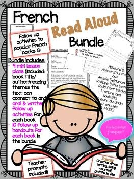 Mini lesson plans for popular French Read Alouds with follow up handouts and oral activities