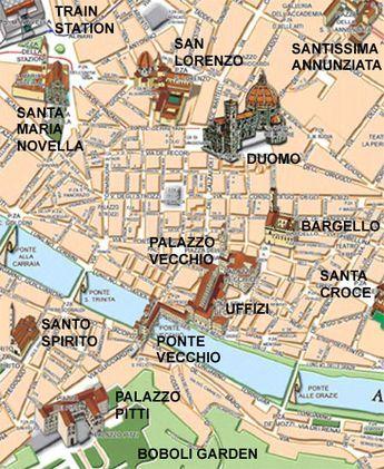Plan De La Ville De Florence Italie Italien Reisen Italien