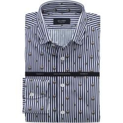 Olymp Signature Hemd, tailored fit, Signature Under-Button-down, Nachtblau, 45 Olymp