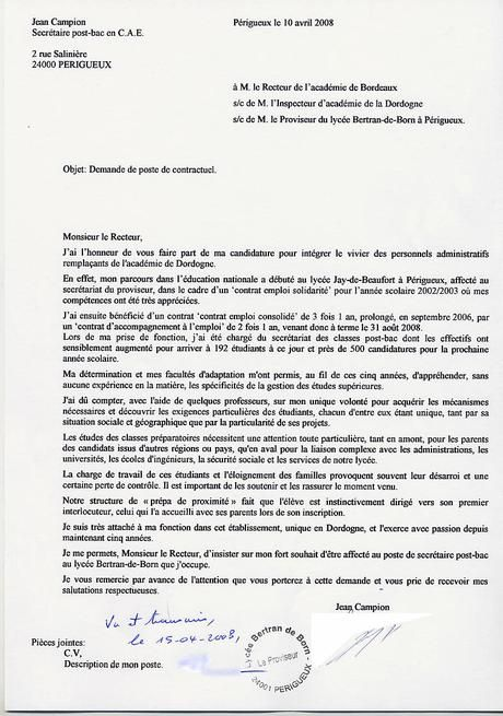 Lettre Motivation Rectorat Contractuel Paperblog Lettre De Motivation Lettre De Motivation Francais Lettre De Motivation Apprentissage