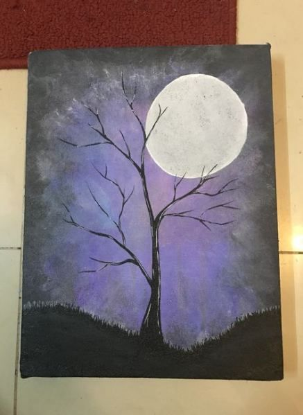 Trendy Painting Easy Acrylic Awesome 32 Ideas Simple Paintings Canvas Trees