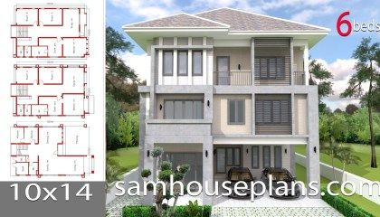 House Plans 10x14 With 6 Bedrooms House Plans Three Story House Story House