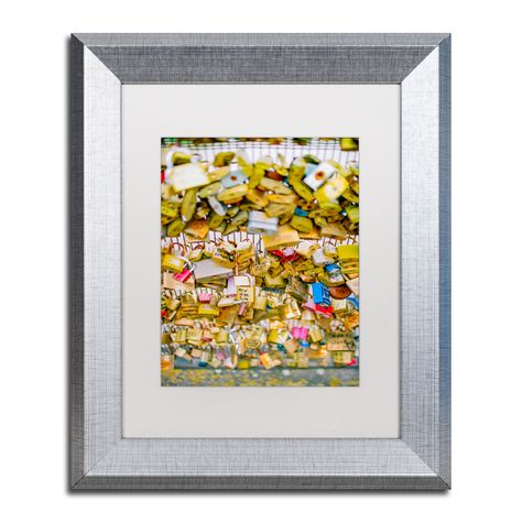 Ariane Moshayedi 'Paris Locks Love' Matted Framed Art