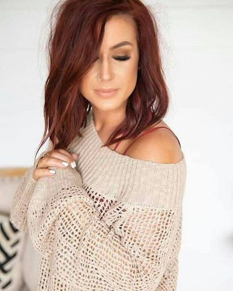 Colored Blunt Cut - 25 Thrilling Ideas for Red Ombre Hair - The Trending Hairstyle Chelsea Houska Hair Color, Teen Mom, Beautiful Red Hair, Haircuts For Fine Hair, Hair Color And Cut, Pink Hair, Ombre Hair, Hair Dye, Blonde Hair