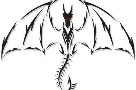 115 Cool Things To Draw That Are Easy Fun For Everyone Tribal Dragon Tattoos Simple Dragon Drawing Black Dragon Tattoo