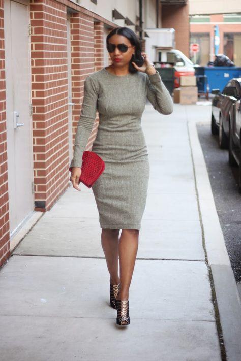 Mood Style: Perfect Little Herringbone Dress