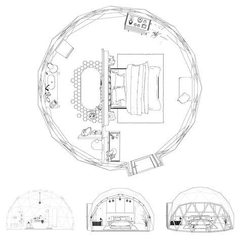 Cette Mini Maison De 30m2 Est Design Modulaire Et Geodesique Planete Deco A Homes World En 2020 Geodesique 30m2 Mini Maison