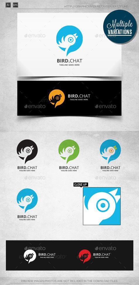 Bird Chat - Logo Template