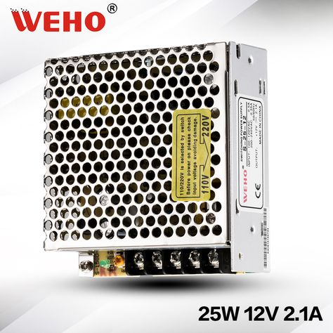S 25 12 Ac To Dc Power 25w Switching Mode Power Supply 12vdc 2a 25w Dc Power Supply 12v Switched Mode Power Supply Power Electronic Products