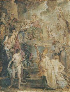 Rubens The Betrothal Of St Catherine C 1628 Oil Sketch Oil On Oakwood Stadel Museum Frankfurt Germany Peter Paul Rubens Stadel Museum Kunstmuseum