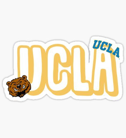 UCLA vinyl sticker for skateboard luggage laptop tumblers car d