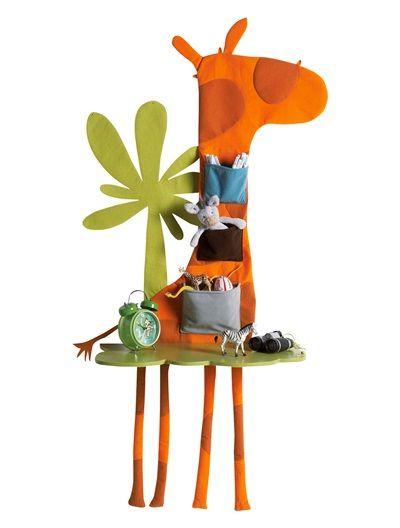 Chevet Mural Girafe Enfant Savane Party Orange Vertbaudet Enfant