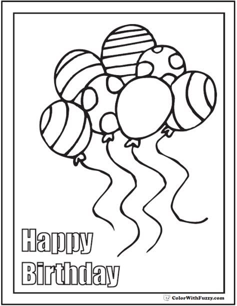 Free Printable Happy Birthday Coloring Page. Download It In 2021 Happy Birthday  Coloring Pages, Birthday Coloring Pages, Birthday Card Printable