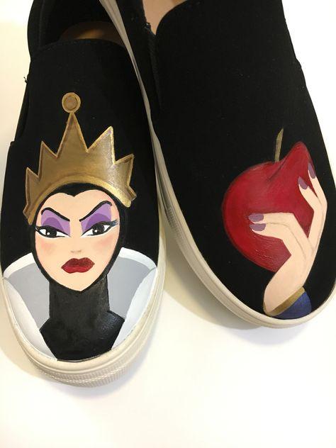 f687c2ecd5fe Disney evil queen hand painted custom designed shoes