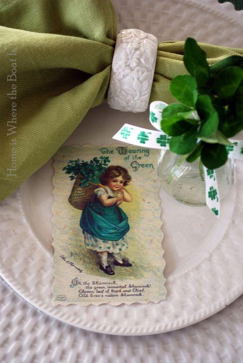 St. Patricks Day Tablescape ❤❦♪♫