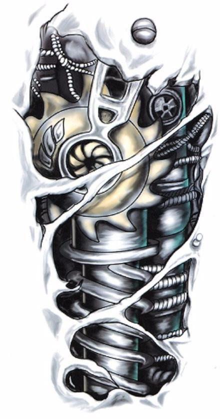 3d Mechanic Large Fake Temporary Tattoo Body Art Stickers For Men And Women Tattoosformen Robot Tattoo Biomechanical Tattoo Pattern Tattoo