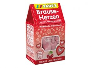 Sadex Brause Herzen Brause Bonbons In Herzform Mit Wildkirsch Geschmack Und 20 Traubenzucker Brause Bonbons Brause Susswaren