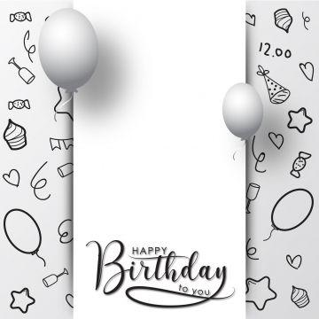 Happy Birthday Background Template Vector Birthday Party Happy