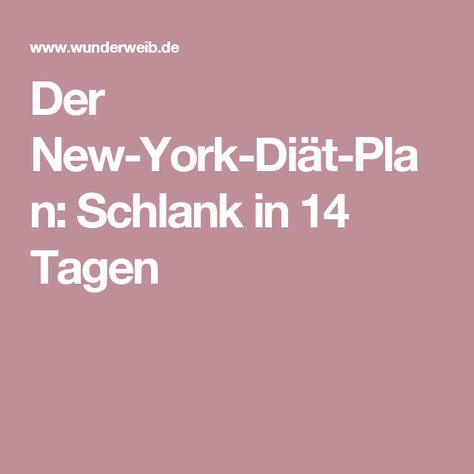 Der New-York-Diät-Plan: Schlank in 14 Tagen
