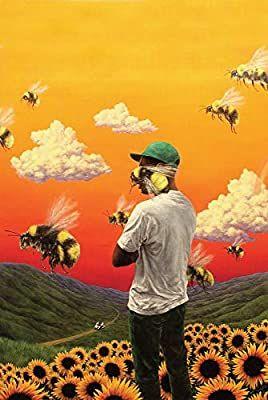 Tyler the Creator Flower Boy Poster Hip Hop Artist Art Print Iconic Album Covers, Cool Album Covers, Album Cover Design, All Poster, Poster Prints, Art Prints, Poster Wall, Canvas Prints, Boys Over Flowers