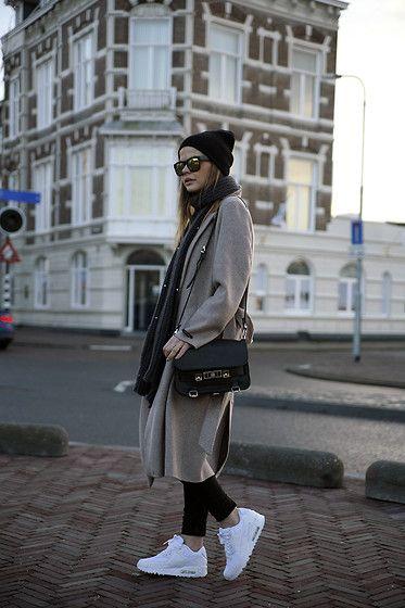 Nike Sneakers, Coat, Proenza Schouler Bag