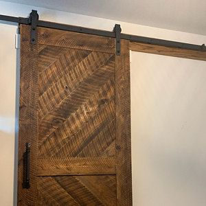 Whitewashed Solid Cypress Sliding Chevron Barn Doors Built To Order In 2020 Barn Door Sliding French Doors Antique French Doors