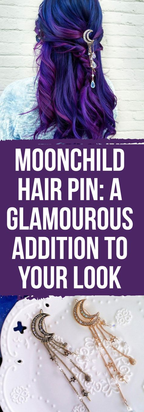 This lovely, boho inspired, Moonchild Hair Pin is the perfect accessory for any occasion, special or otherwise! It features a cascading array of shimmering crystal stars descending from a beautifully decorative moon pin. The Moonchild Hair Pin is a perfectly simple solution for that eye-catching style statement piece that everyone desires, such a luxurious look!