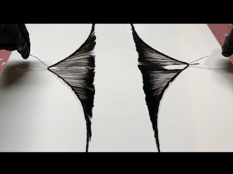 Fluid Painting STRING PULL!! Funky Black and White Cheap Easy Beginners Technique!! Wigglz Art - YouTube