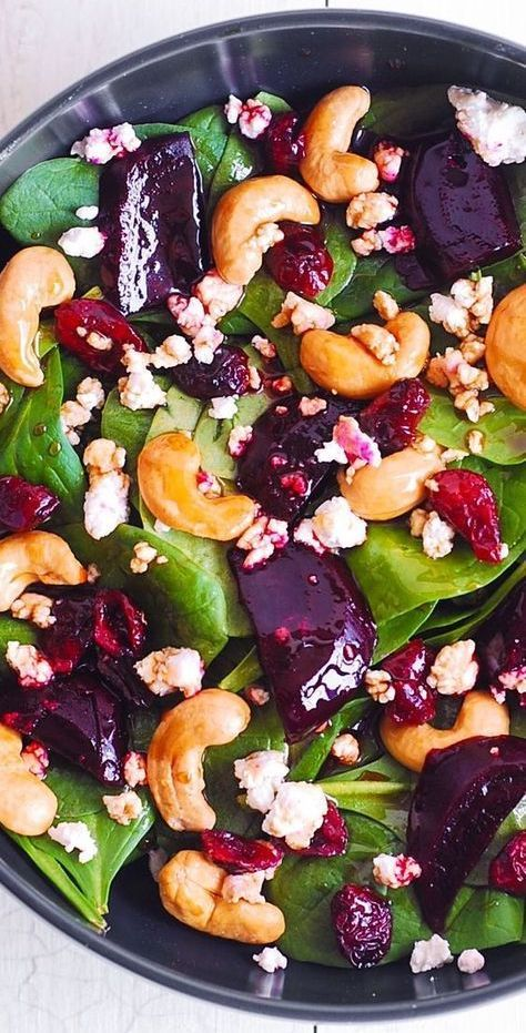 Beet and Spinach Salad