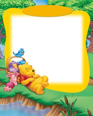 photo frames with winnie the pooh writing paper pinterest disney scrapbook flourish and stenciling - Winnie The Pooh Picture Frame